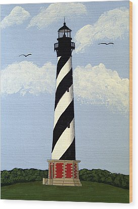 Cape Hatteras Lighthouse Wood Print by Frederic Kohli
