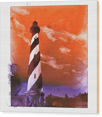 Wood Print featuring the painting Cape Hatteras Lighthouse by Ryan Fox