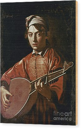 Caravaggio: Luteplayer Wood Print by Granger