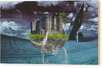 Castle In The Sky Art Wood Print