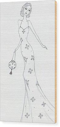 Cb10 Wood Print by Christine Corretti