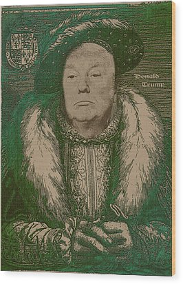 Celebrity Etchings - Donald Trump Wood Print