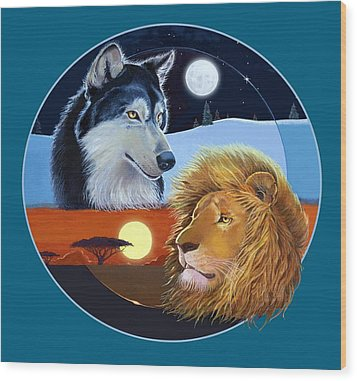 Celestial Kings Circular Wood Print by J L Meadows