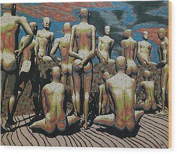 Censorship Hypocrisy Wood Print by Leo Mazzeo