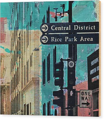 Wood Print featuring the photograph Central District by Susan Stone