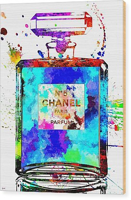 Chanel No. 5 Grunge Wood Print