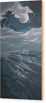 Changing Tide Wood Print by Kathleen Romana