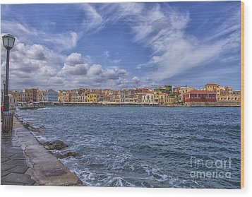 Chania On Crete In Greece Wood Print by Patricia Hofmeester