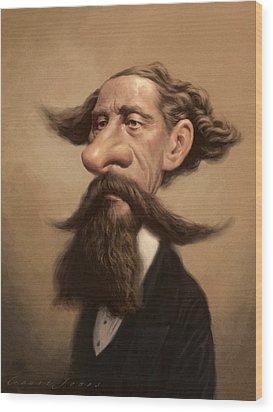 Charles Dickens Wood Print by Court Jones