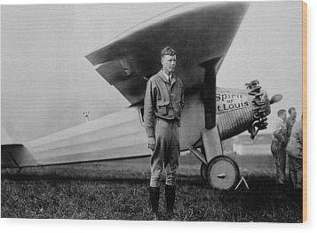 Charles Lindbergh 1902-1974 Wood Print by Everett