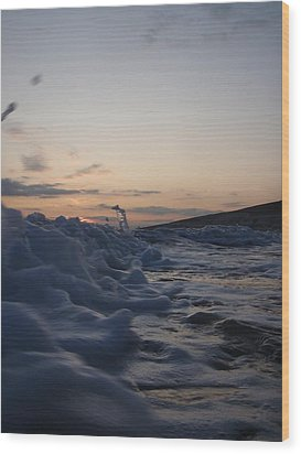 Wood Print featuring the photograph Chasing Dusk by Mira Cooke