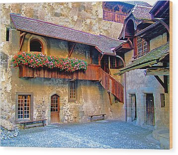 Chateau De Chillon Wood Print by Nick Diemel