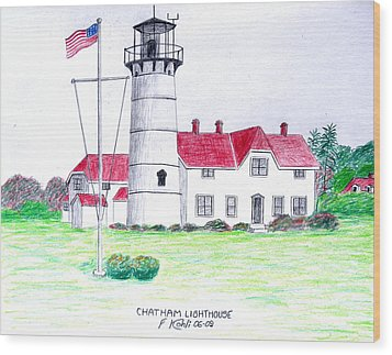 Chatham Lighthouse  Wood Print by Frederic Kohli