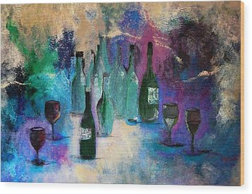Wood Print featuring the painting Cheers by Lisa Kaiser