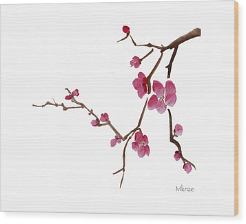 Cherry Blossoms 1d Wood Print by McKenzie Leopold