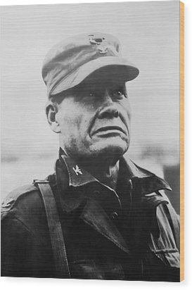 Chesty Puller Wood Print by War Is Hell Store