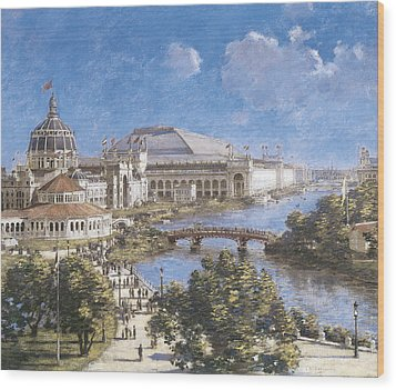 Chicago Columbian Exposition Wood Print by Theodore Robinson