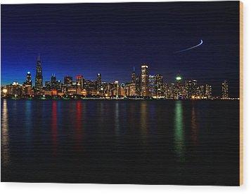 Chicago-skyline 3 Wood Print