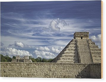 Chichen Itza, El Castillo Pyramid Wood Print by Jason Moynihan