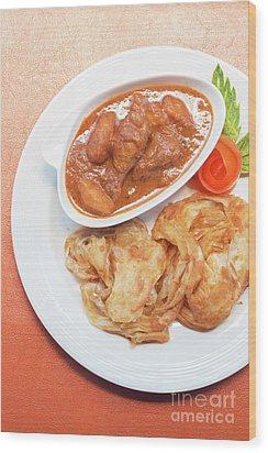 Wood Print featuring the photograph Chicken Massaman Curry by Atiketta Sangasaeng