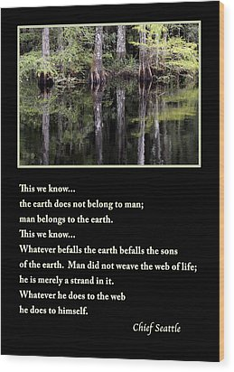 Chief Seattle Wood Print