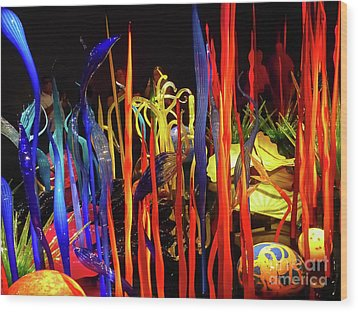 Chihuly Garden And Glass Exhibition Wood Print