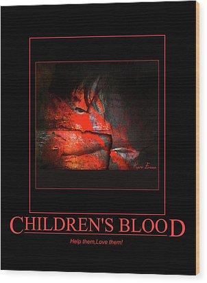 Children's Blood Wood Print