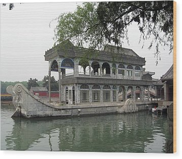 China Beiging Summer Palace Wood Print by Lisa Boyd