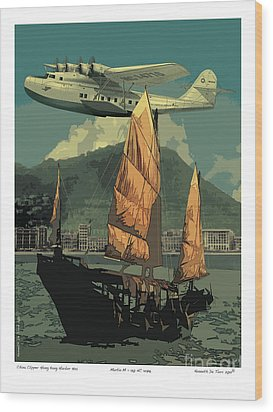 China Clipper Wood Print by Kenneth De Tore
