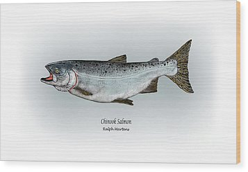 Chinook Salmon Wood Print by Ralph Martens