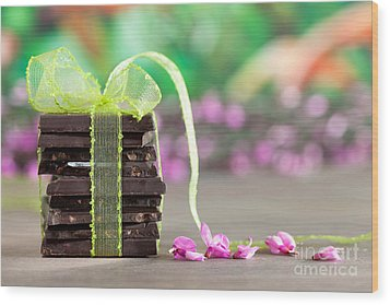 Chocolate Wood Print by Nailia Schwarz