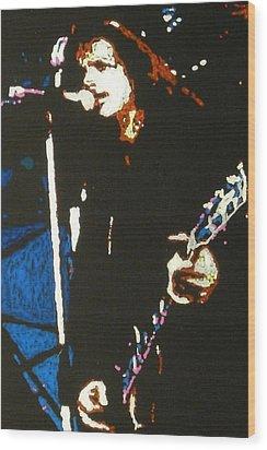 Chris Cornell Wood Print by Grant Van Driest