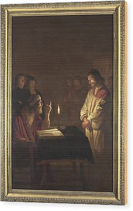 Christ Before The High Priest Wood Print by Gerrit van Honthorst