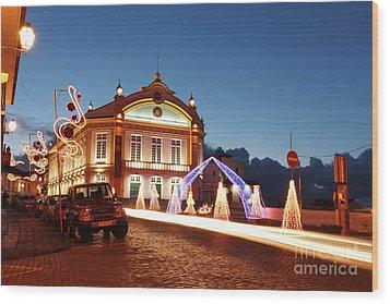 Christmas In Ribeira Grande Wood Print by Gaspar Avila