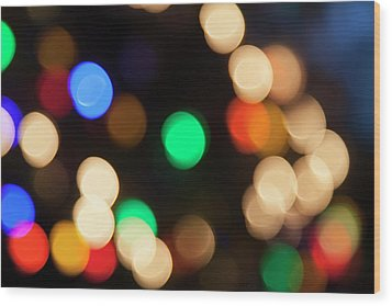 Wood Print featuring the photograph Christmas Lights by Susan Stone