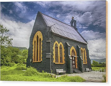 Wood Print featuring the photograph Church by Charuhas Images