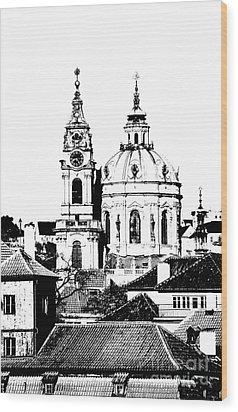 Church Of St Nikolas Wood Print by Michal Boubin