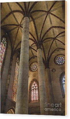 Wood Print featuring the photograph Church Of The Jacobins Interior by Elena Elisseeva