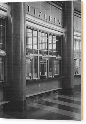 Cincinnati Union Terminal, Ticket Wood Print by Everett