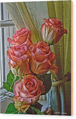 Wood Print featuring the photograph Cindy's Roses by Bonnie Willis