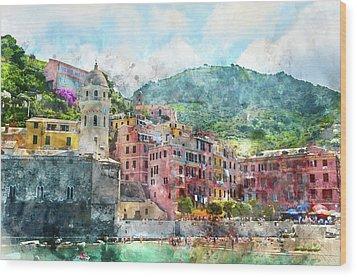 Cinque Terre Italy Wood Print
