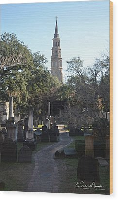 Circular Congregational Graveyard 3 Wood Print by Gordon Mooneyhan