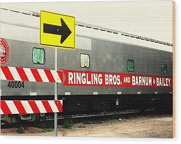 Circus Train Wood Print by Clarice  Lakota