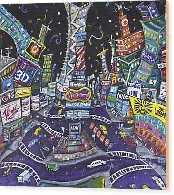 City Of Lights Wood Print by Jason Gluskin