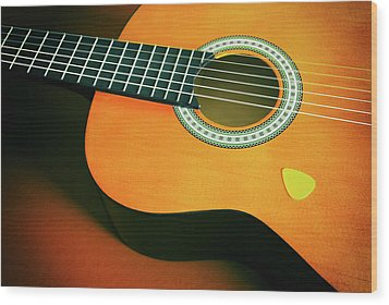 Wood Print featuring the photograph Classic Guitar  by Carlos Caetano