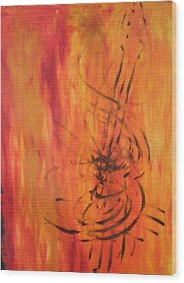 Classical  Wood Print by Kim  Rahal