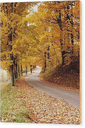 Cloudland Rd., Woodstock Vt Wood Print