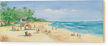 Coastal View Wood Print by Ray Cole