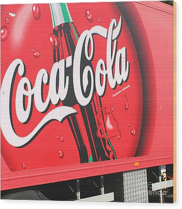 Coca Cola Truck Wood Print by Barbara Marcus