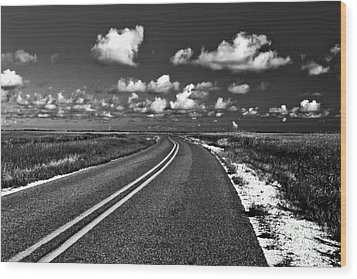 Cocodrie Highway Wood Print by Scott Pellegrin